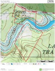 Cow Creek Bluffs topo map