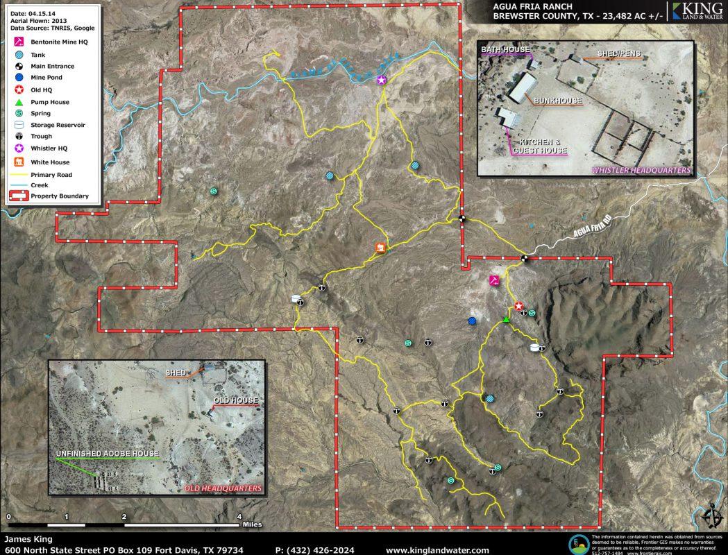 Agua Fria aerial map
