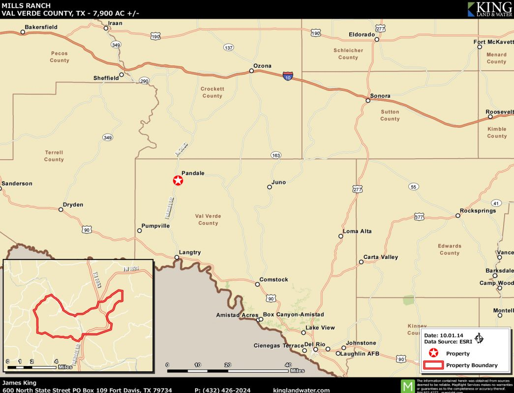 Mills Pecos River location map