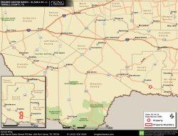 Prairie Canyon location map