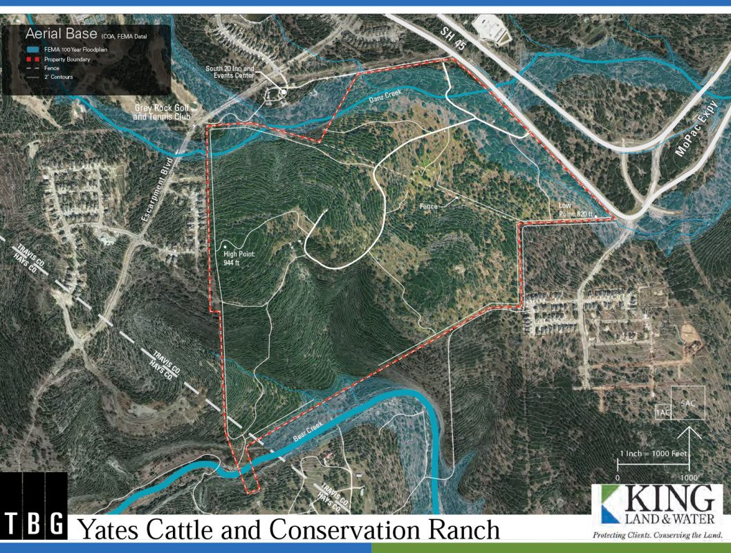 Yates Cattle & Conservation aerial map