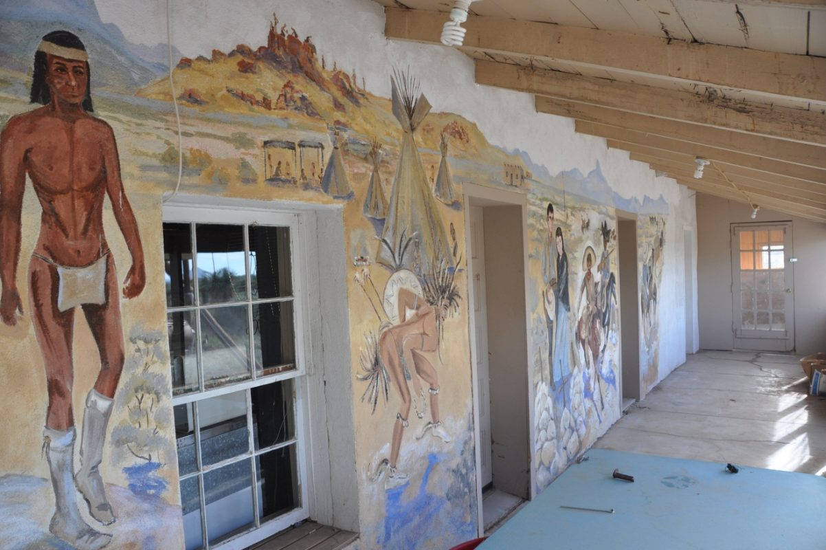 Photo of Kennedy Ranch, mural on porch