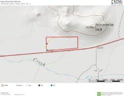 Blue Mountain Retreat topo map