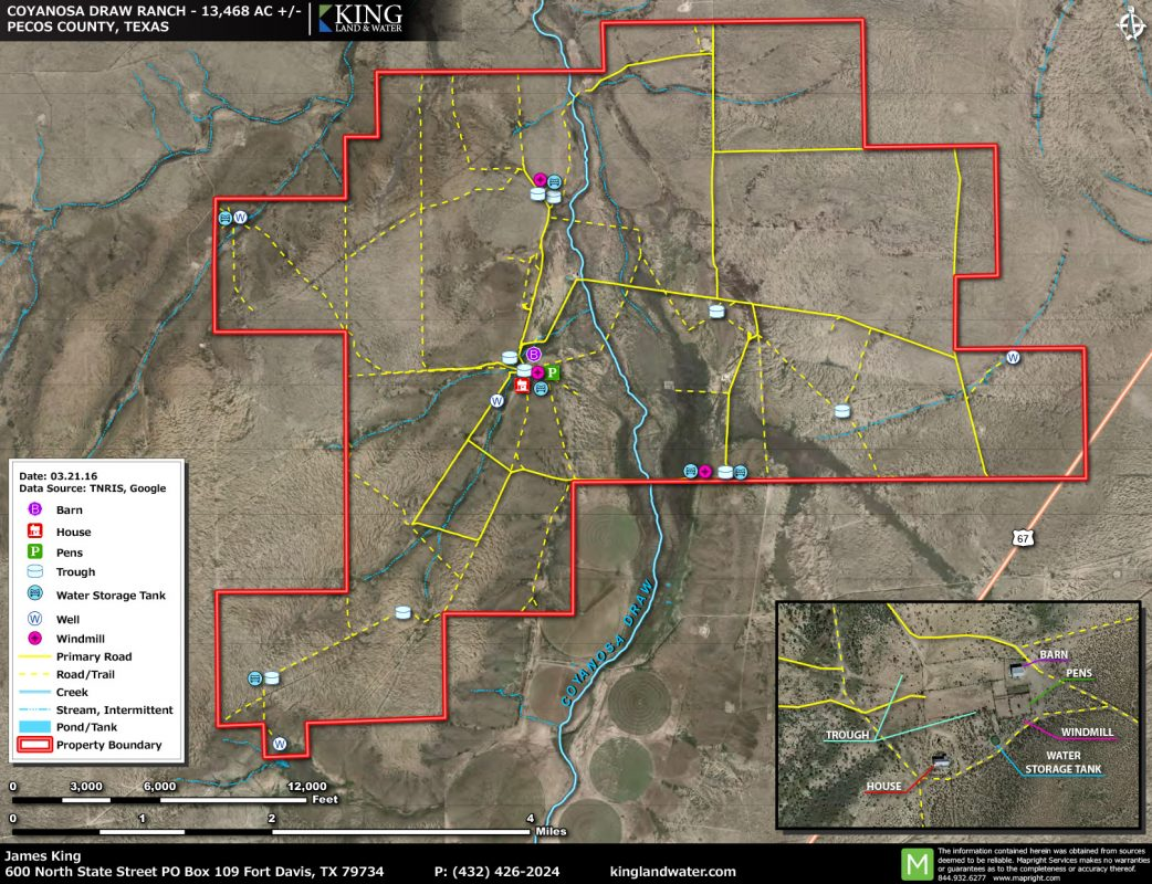 Coyanosa Draw aerial map