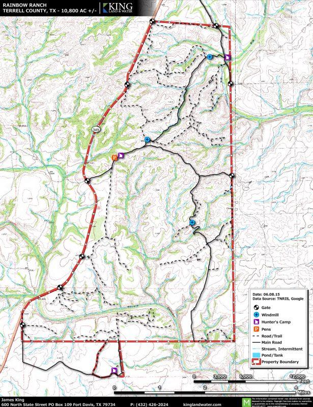 Rainbow Ranch topo map