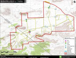 Red Mill Ranch topo map