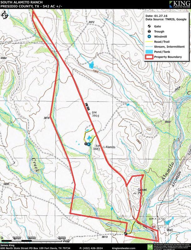South Alamito topo map