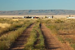 Photo of Quebec Ranch, grassland and ranch buildings