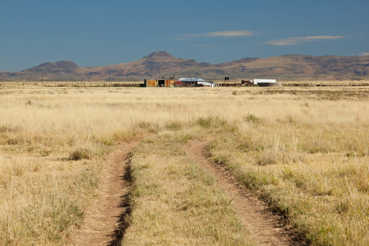 Photo of Quebec Ranch, grassland, road, and ranch buildings