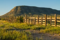 Photo of Red Mill Ranch, corral/pens with mountain