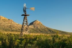 Photo of Red Mill Ranch, wooden windmill