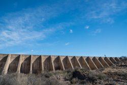 Photo of Black Hills Ranch, dam on Cienega Creek