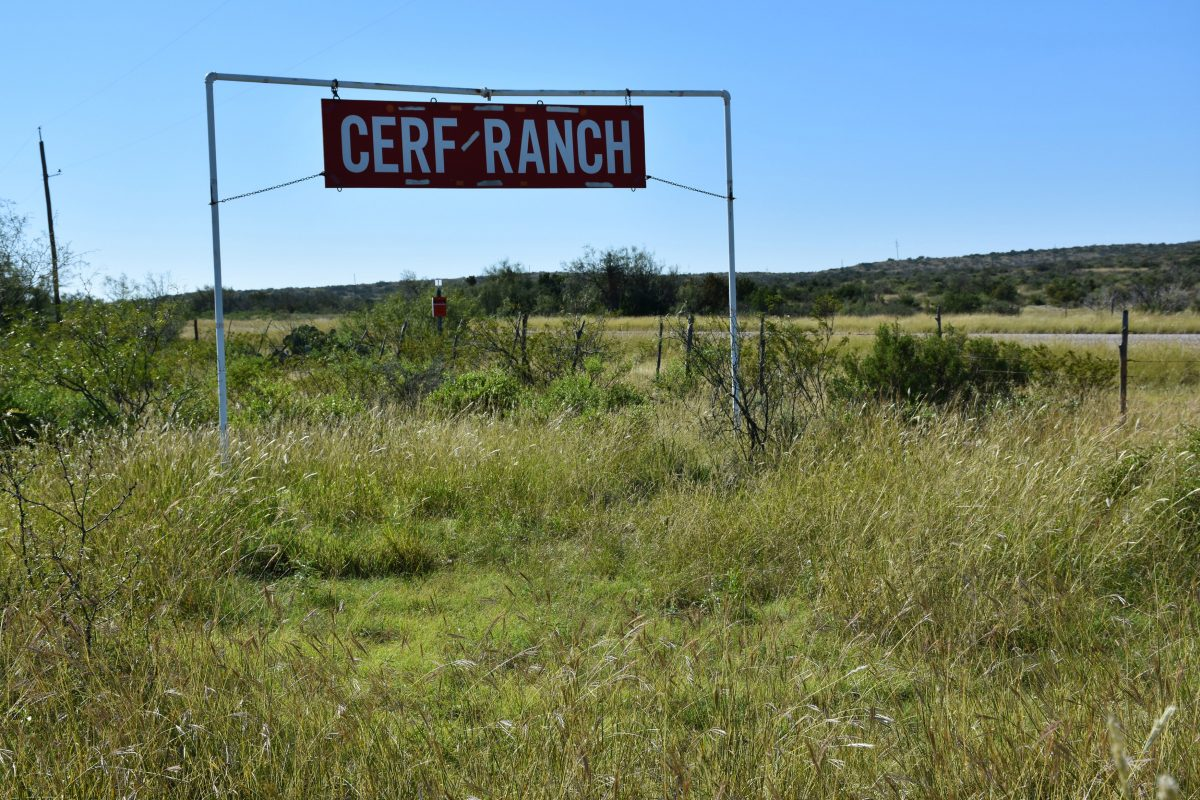 Photo of Rock House Draw Ranch, grassland and Cerf Ranch sign